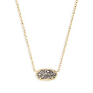 Elisa Necklace in Gold & Platinum Drusy